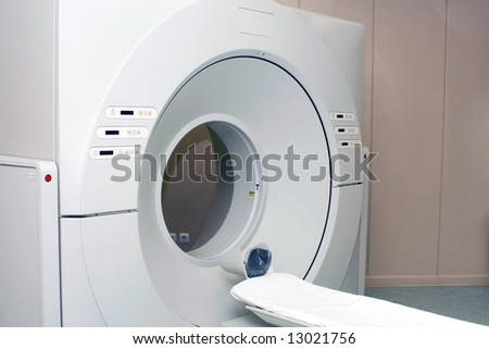 Tomograph in the hospital - stock photo
