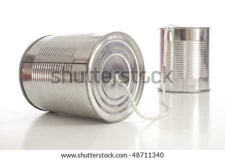ton can phone showing business communication concept - stock photo