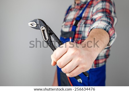 tong, pliers - stock photo