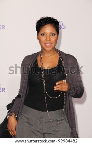 "Toni Braxton at the ""Justin Bieber: Never Say Never"" Los Angeles Premiere, Nokia Theater, Los Angeles, CA. 02-08-11"