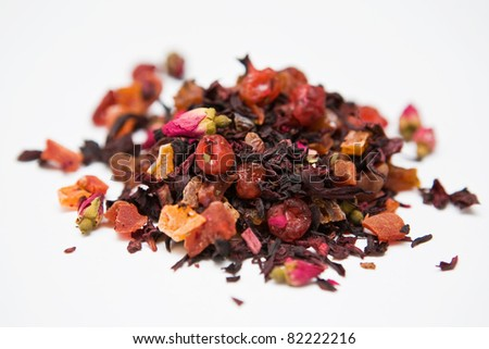 Tonic herbal tea with berries - stock photo