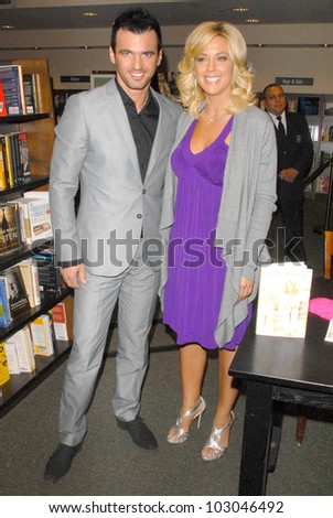 "Tony Dovolani and Kate Gosselin at an appearance signing copies of her new book ""I Just Want You To Know: Letters to My Kids on  Love, Faith and Family,"" Barnes & Noble, Santa Monica, CA. 04-16-10"