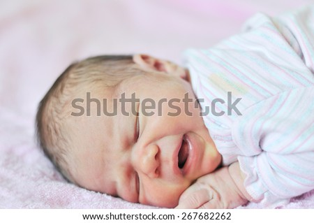 too funny sweet newborn girl is sleeping