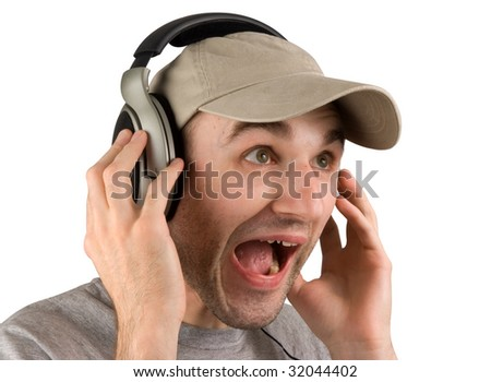 Too loudly - stock photo