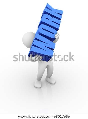 Too much Work - stock photo
