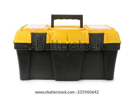 Tool box isolated on white background - stock photo