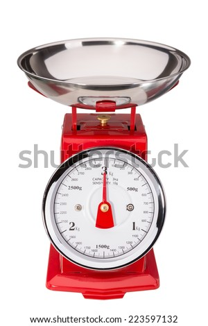 Tool for measuring the weight of food. Balance classic. - stock photo