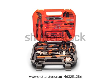 Tool kit in a suitcase