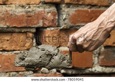 Tool shovel hand worker - stock photo