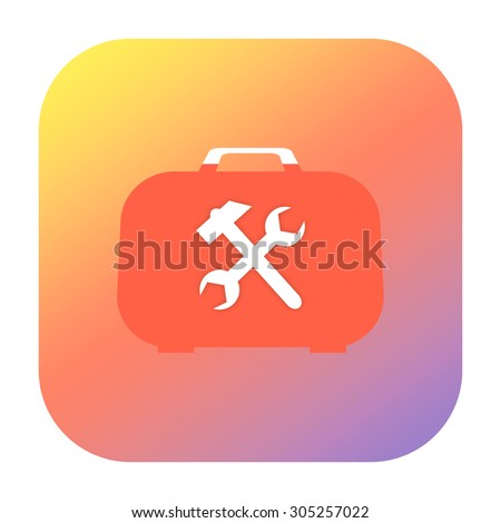 Toolkit icon - stock photo