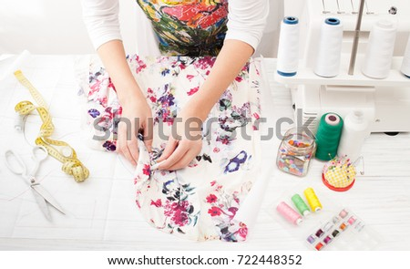 Tools Fabric Sewing On Serger Sewing Stock Photo Royalty Free