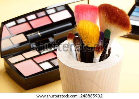 Tools for makeup - stock photo