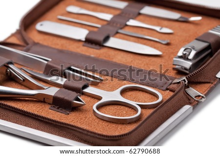 Tools of a manicure set - stock photo