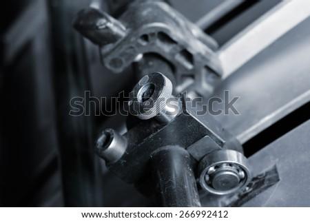 Tools offset printing machine - stock photo