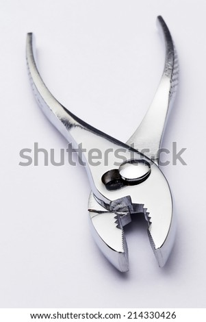 Tools on white background - stock photo