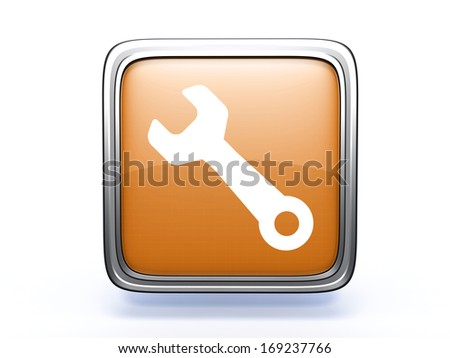 tools square icon on white background