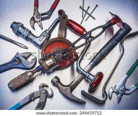 Tools used for repairs around the house - stock photo