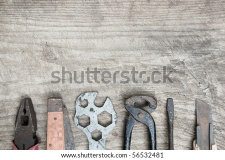 Tools, wrench, pliers, antique