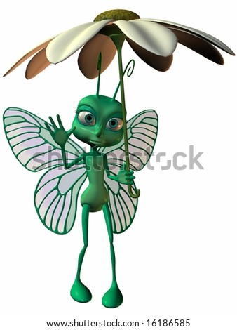 Toon Butterfly - stock photo