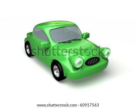 Toon car - stock photo