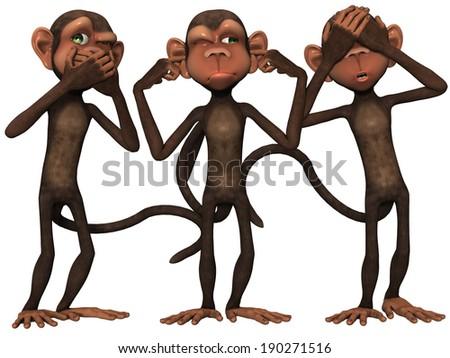 Toon Monkey - stock photo