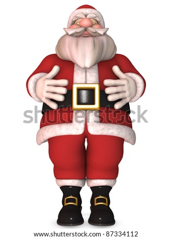 Toon Santa Claus - stock photo
