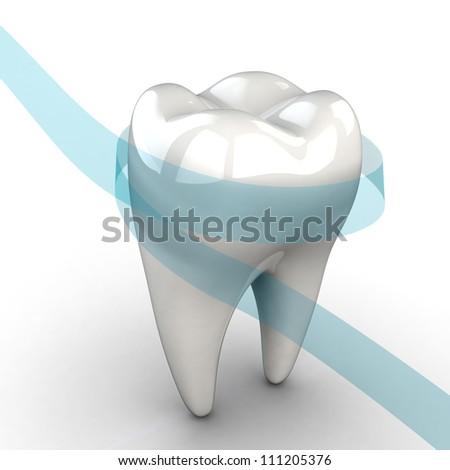 Tooth. Illustration of stomatology - stock photo
