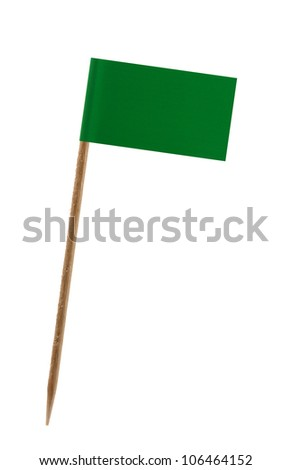 Tooth pick wit a small paper flag of Libia - stock photo