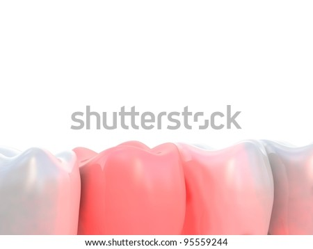 Toothache 3d - stock photo
