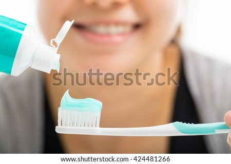 Toothbrush dental care for your healthy mouth concept - stock photo