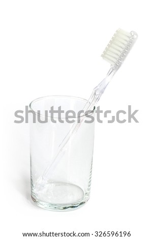 Toothbrush in a glass.