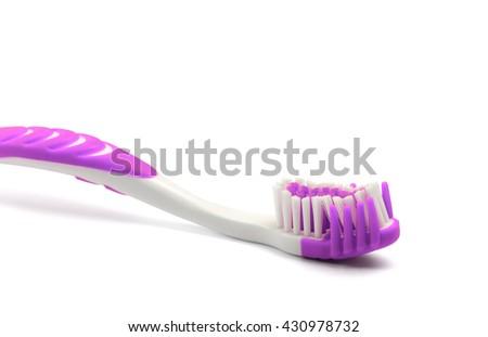 Toothbrush isolated on white background - stock photo