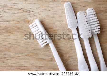 Toothbrushes - stock photo