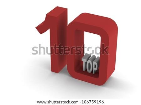 Top 10 - stock photo