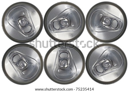 Top Down View of a Six Can Pack