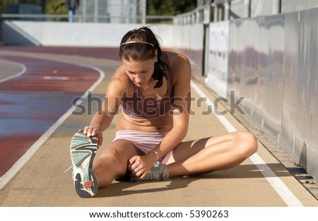 Top 20 German Athletic stretching(see more on gallery) - stock photo