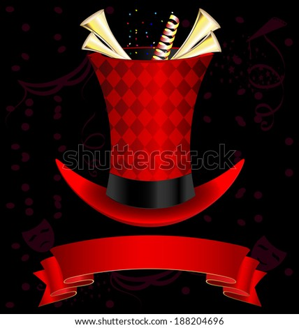 top-hat and fanfare - stock photo