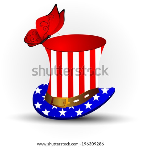 Top hat for independence day - stock photo