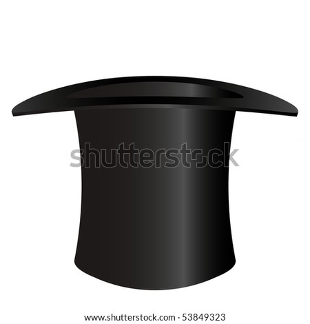 Top hat isolated on white - an illustration for your design project.