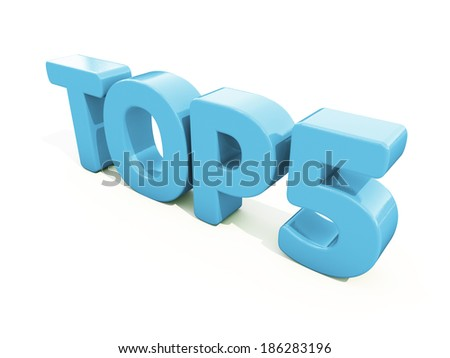 Top icon on a white background. 3D illustration