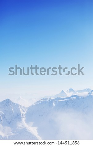 top of alps in sky