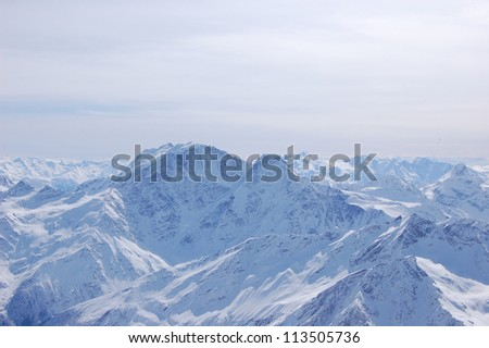 Top of apls mountains - stock photo