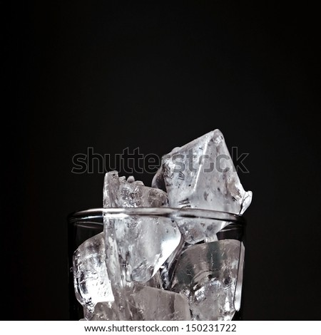top of glass with ice cube