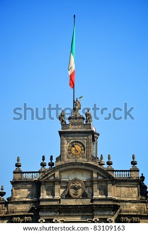 Top of Mexico City Metropolitan Cathedral - stock photo