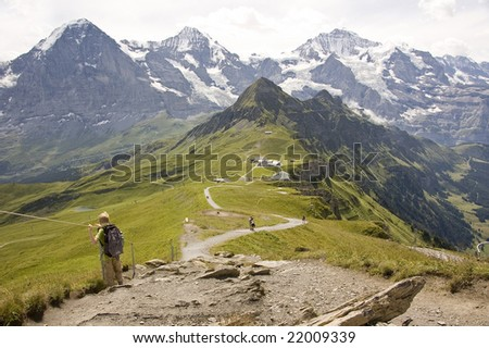 top of mountain,switserland - stock photo