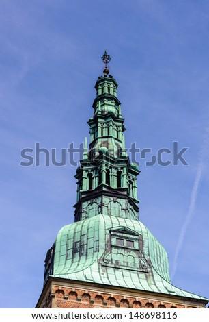 Top of the Frederiksborg Castle, Denmark - stock photo