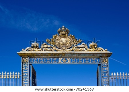 top of the gate of the castle of Versailles (France)