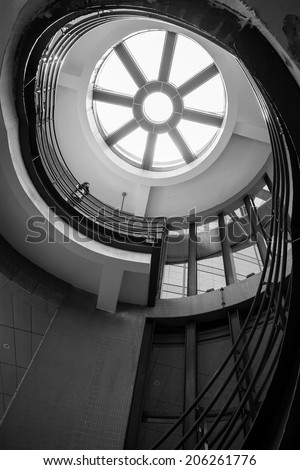 top of the stairway - stock photo