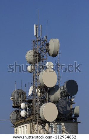 top of view-tower with transmitter units