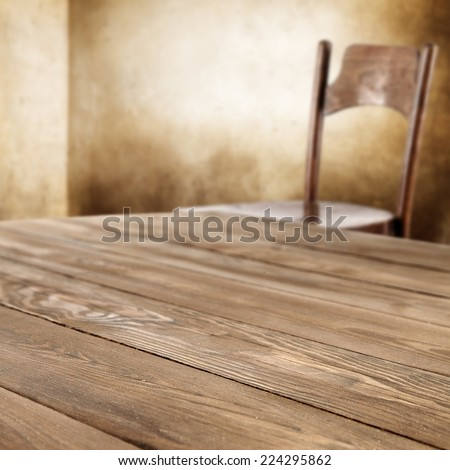 top of wood and chair